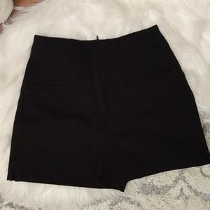 Zara Black High Waist Shorts